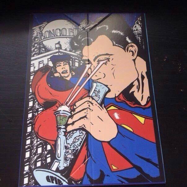 Drawn cannabis superman #1