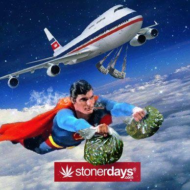 Drawn cannabis superman #3