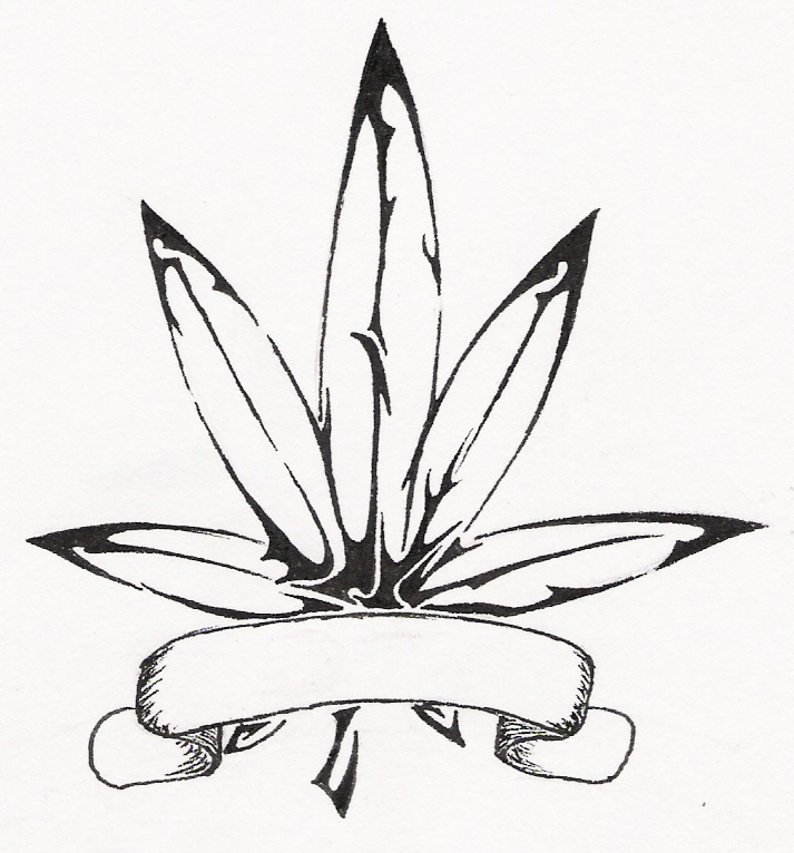 Drawn pot plant pothead Leaf pot DeviantArt by Shroomie