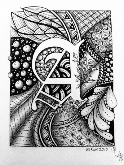 Drawn weed zentangle On  com deviantart Zentangle