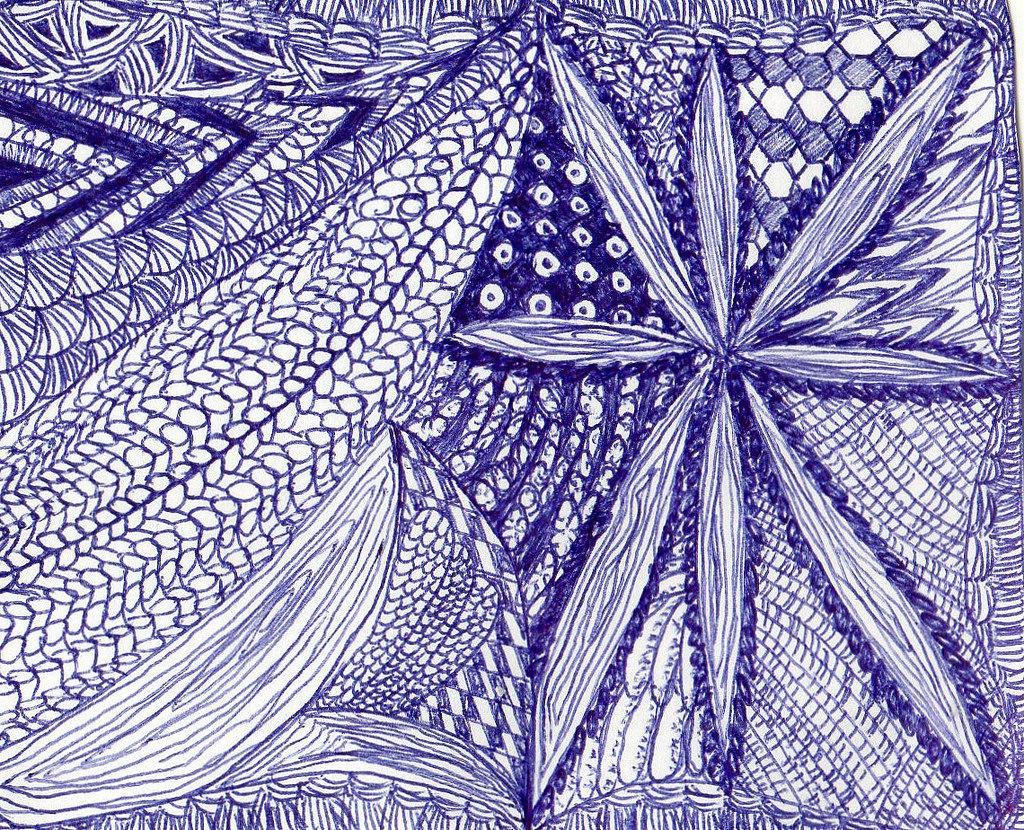 Drawn weed zentangle (Ink