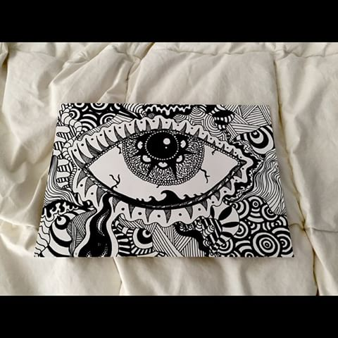 Drawn weed zentangle #cool videos and photos #eye
