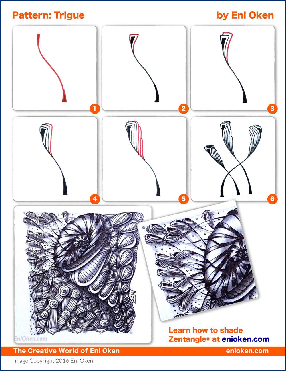 Drawn weed zentangle Zentangle® Oken Eni create
