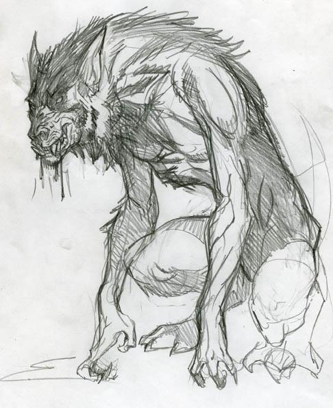 "Drawn werewolf  "" howlingbastards: Sketch """
