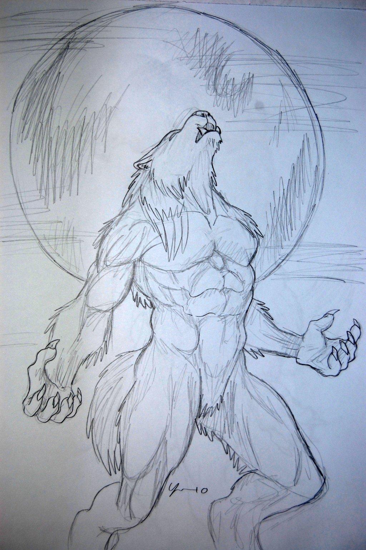 Drawn werewolf Drawing 8 on drawing 7