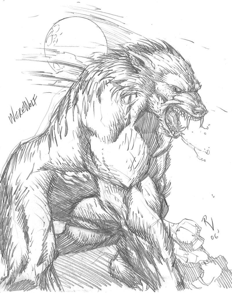 Drawn werewolf By DeviantArt on RudyVasquez Werewolf