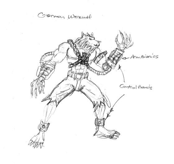 Drawn werewolf 28mm Mayhem Concepts jpg  werewolf