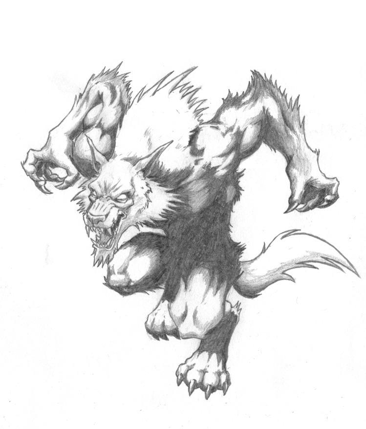 Drawn werewolf Spencer by DeviantArt Page by