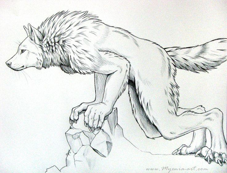 Drawn wolfman Werewolves Leaning on Werewolf sarahfinnigan