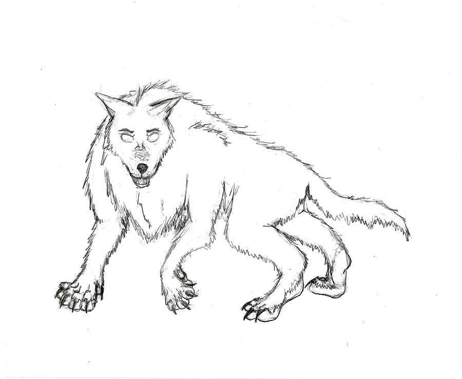 Drawn werewolf all fours All the on by DeviantArt