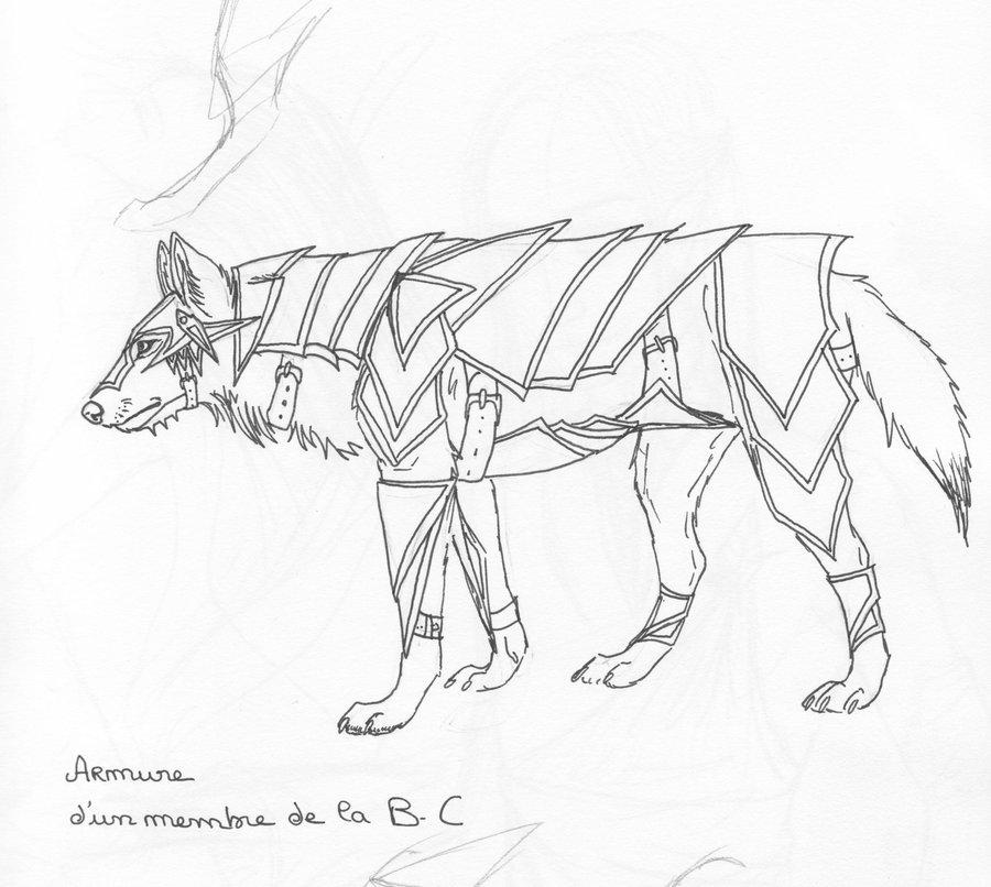 Drawn werewolf armor Armor Lou Lou Wolf on