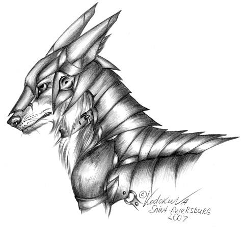 Drawn werewolf armor Wolf photo#26 style armor Armor