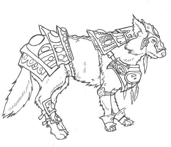 Drawn werewolf armor Armor on study and and