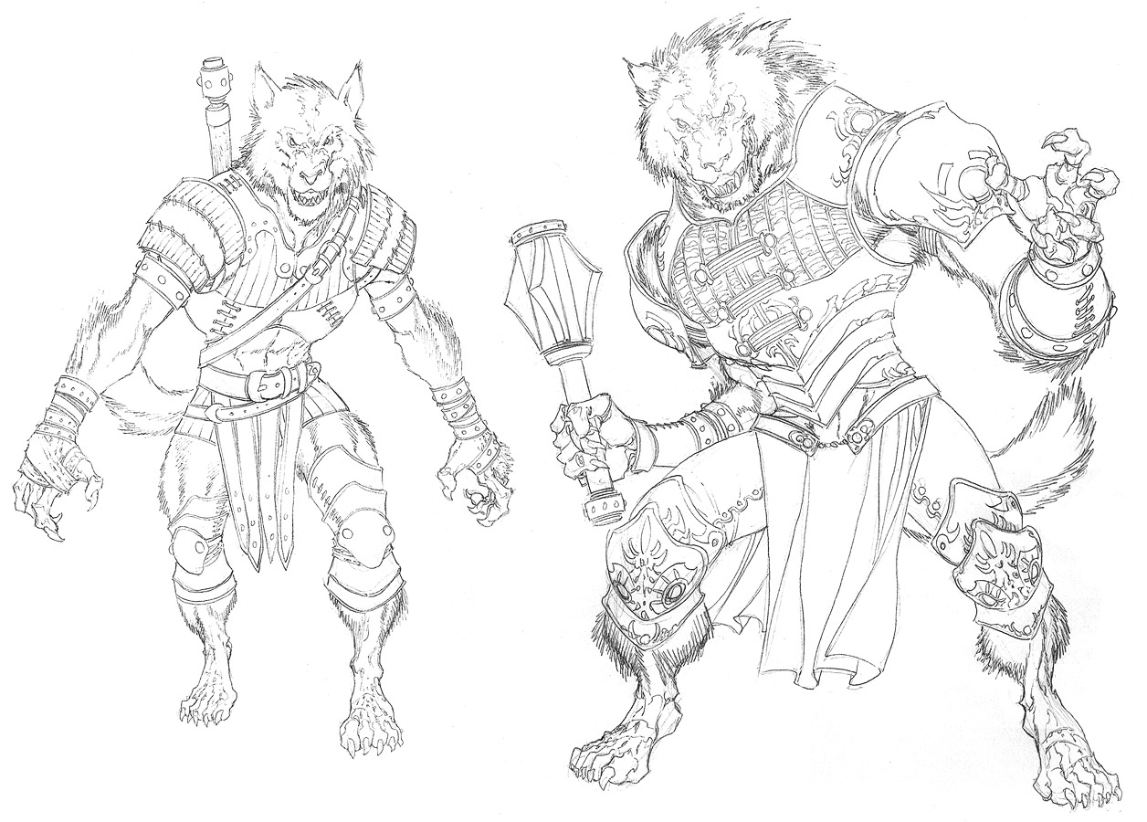 Drawn werewolf armor  on Werewolves DnD4e: ChristopherStevens