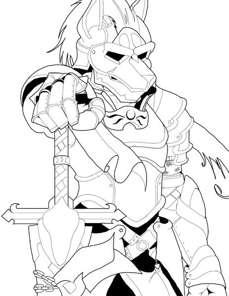 Drawn werewolf armor Wolf sororabbit on armor by