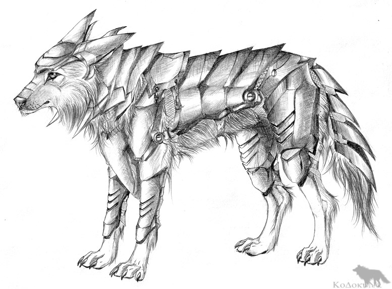 Drawn werewolf armor Drawings Find Wolf and wolf