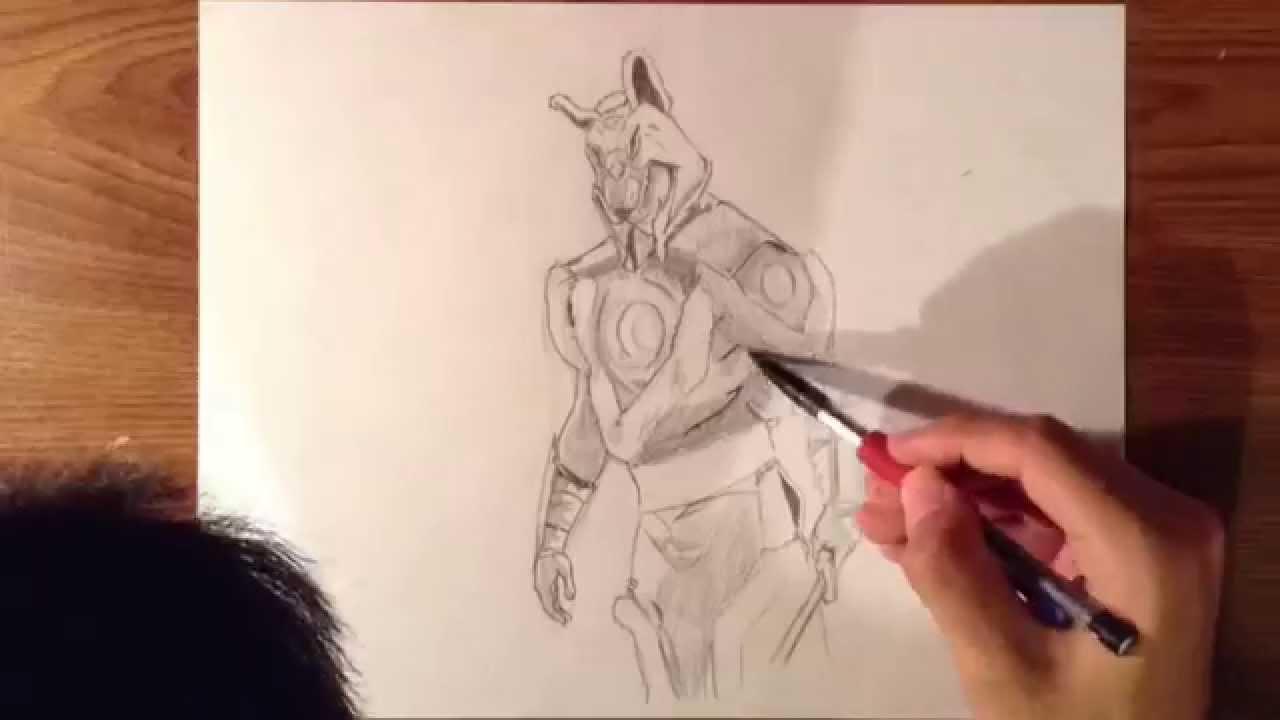 Drawn werewolf armor  DRAW AVATAR HOW TO