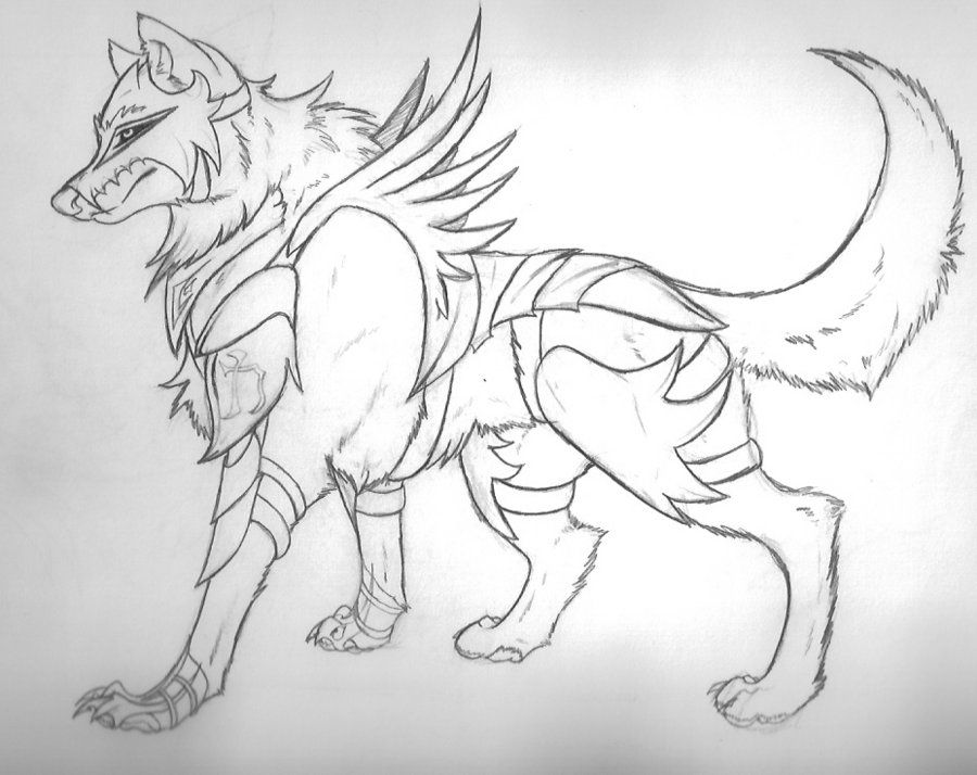 Drawn werewolf armor Wolf by by of on