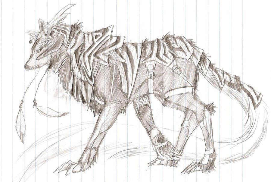 Drawn werewolf armor Armored Mizu Mizu Wolf on