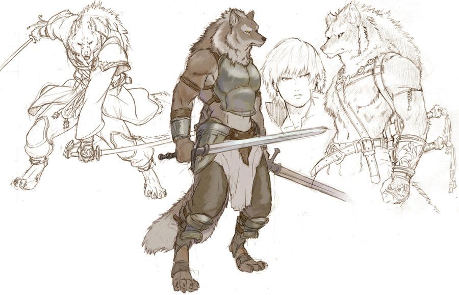 Drawn werewolf armor Werewolf Werewolf koutanagamori by DeviantArt