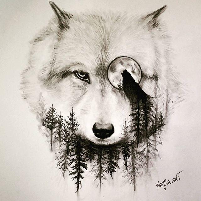 Drawn werewolf artwork R on Pinterest wolf Tattoo