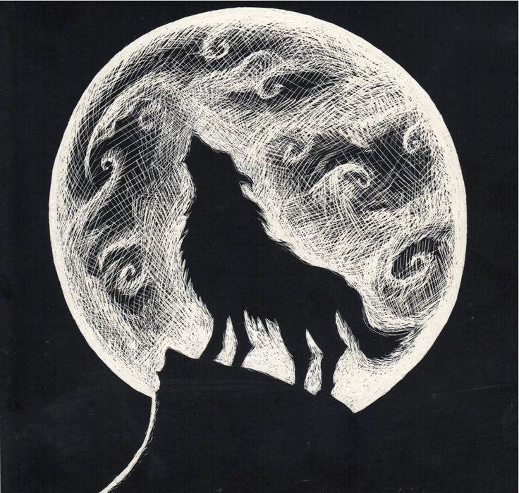 Drawn werewolf artwork On Wolf Wolf images Pin