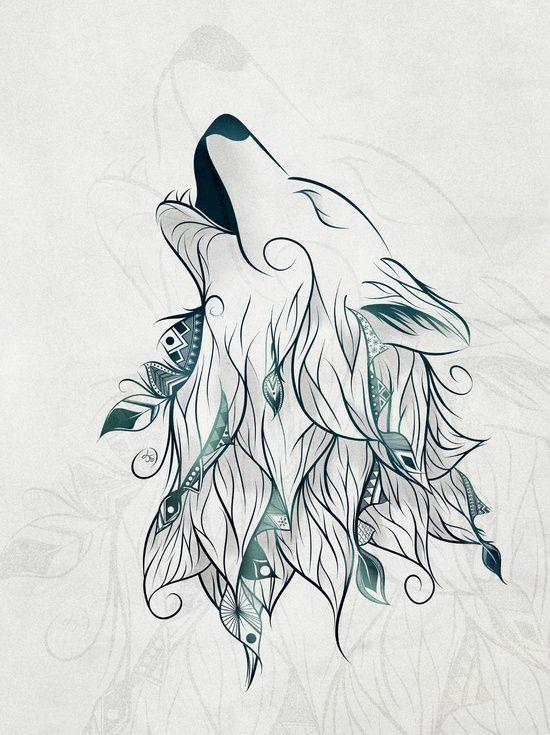 Drawn werewolf artwork Pinterest Wolves Print Art ideas