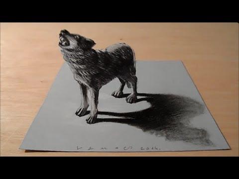 Drawn werewolf awesome Wolf Drawing 3D Artistic Draw
