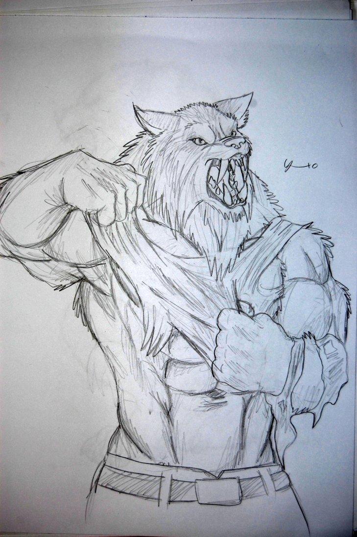 Drawn werewolf awesome By DeviantArt 8 tribalwolfie 8