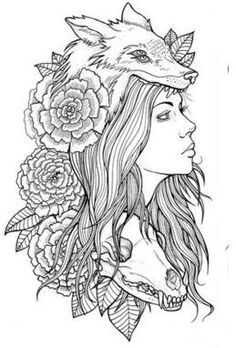 Drawn werewolf bear Tattoos Google headdress wolf Tattoos
