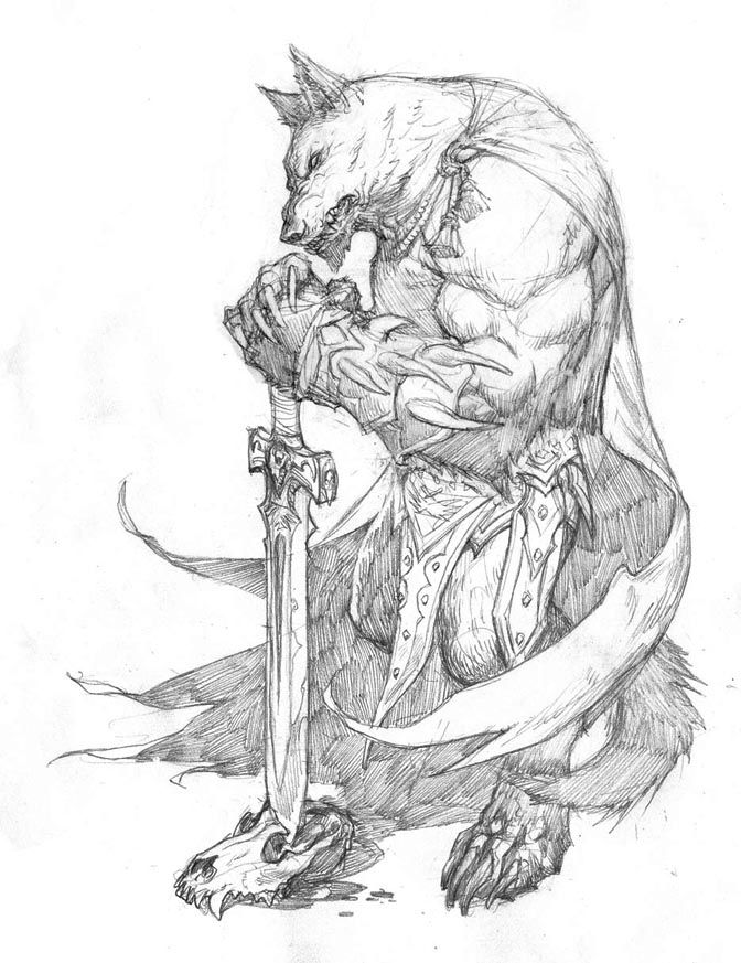 Drawn wolfman buff body Best about Studies wolf images