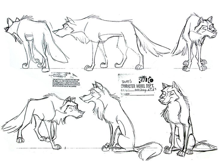 Drawn werewolf character model And wolf) this Balto CHARACTERS