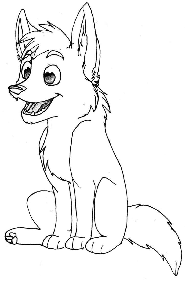 Drawn werewolf coloring page Coloring Wolf Anime Pages To