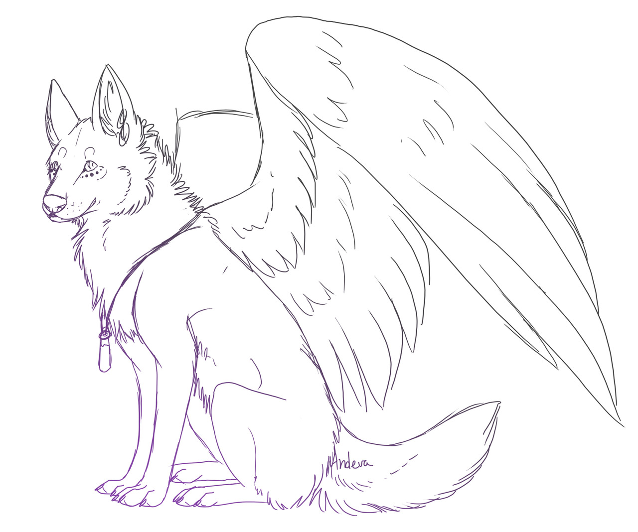 Drawn werewolf coloring page Realistic Realistic wolves scary Angel