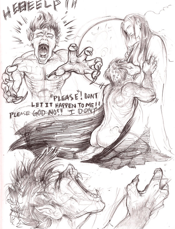 Drawn werewolf comic  comic comic werewolf on