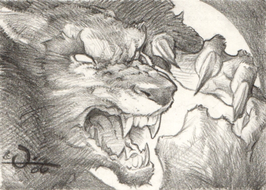 Drawn werewolf comic The Pencil Werewolf Artist of