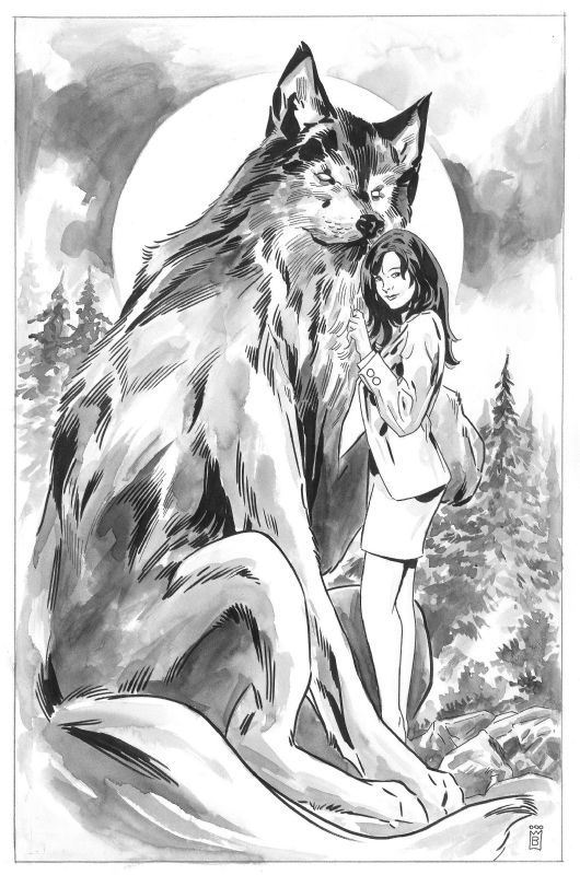 Drawn werewolf comic White by Bigby Wolf Horse/Vertigo