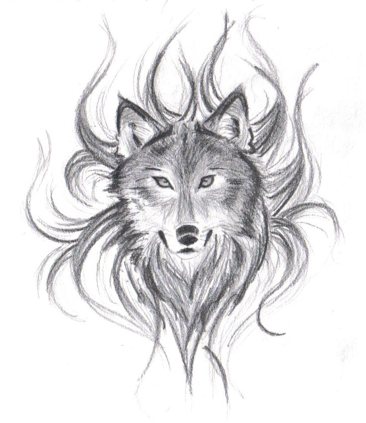 Drawn werewolf face Wolf face on drawing! face