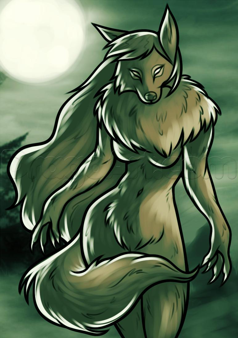 Drawn werewolf female werewolf By draw female a werewolf