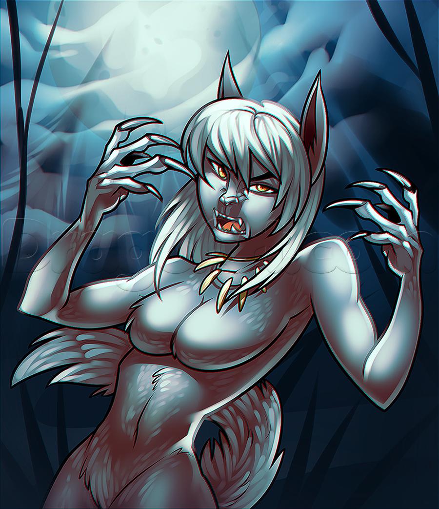 Drawn werewolf female werewolf By draw werewolf a girl