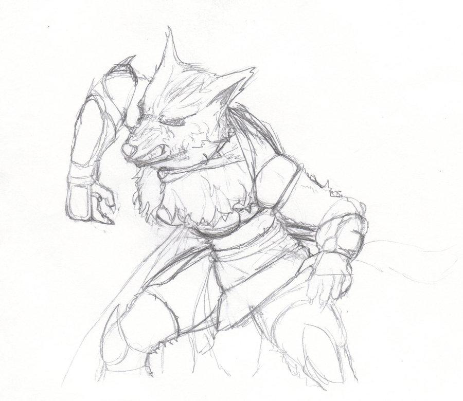 Drawn werewolf female werewolf By Female rolandflagg Werewolf rolandflagg