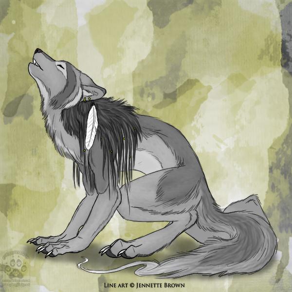 Drawn werewolf female werewolf Werewolf geckoguy123456789 by Howling werewolf