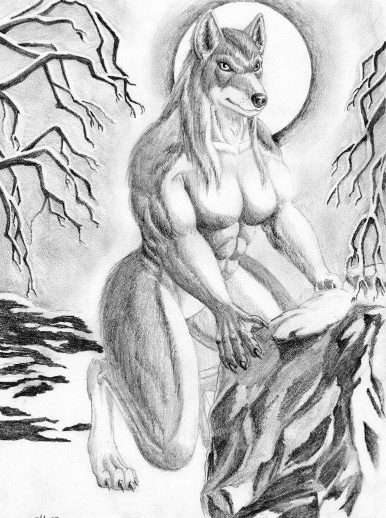 Drawn werewolf female werewolf By White Eddy Female by