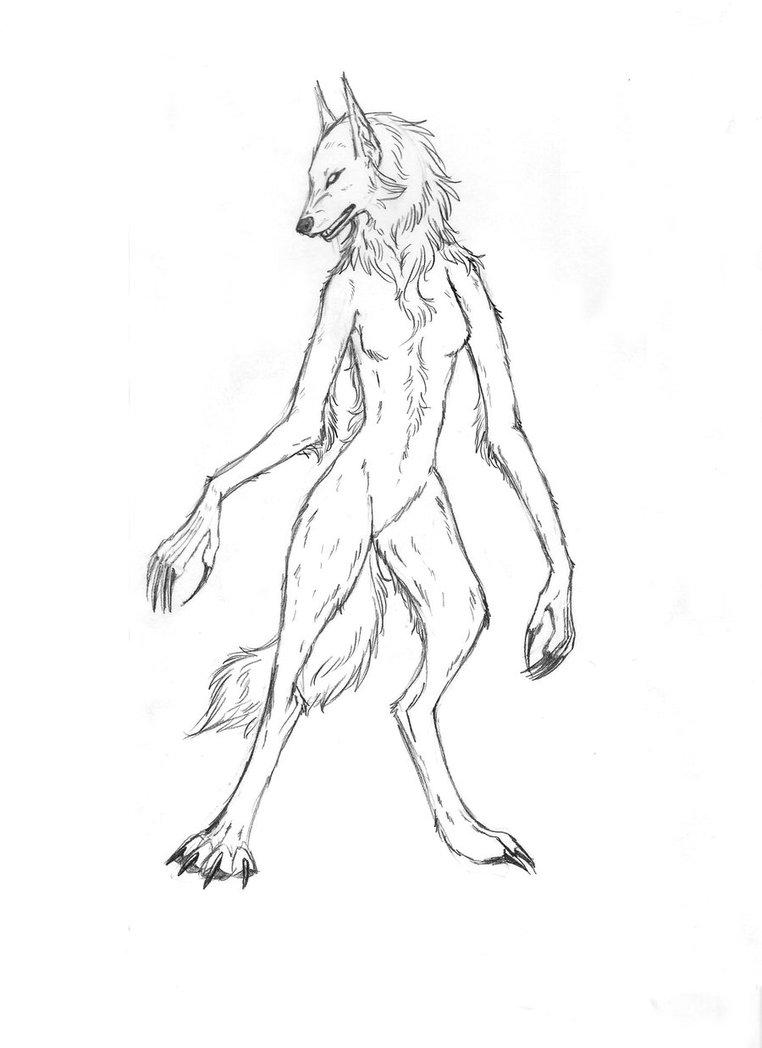 Drawn werewolf female werewolf By Taigan Dancing Werewolf by