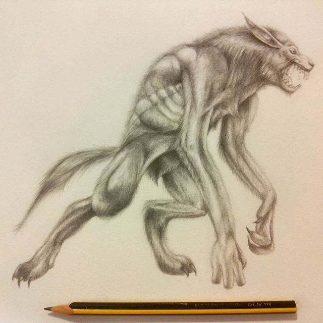Drawn wolfman pencil drawing To #art # of scared