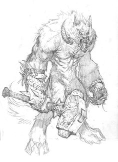 Drawn werewolf found And of on Wrightson