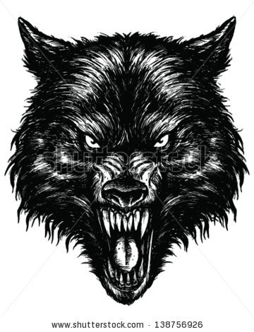Drawn werewolf found Drawn wolf (360 linework hand