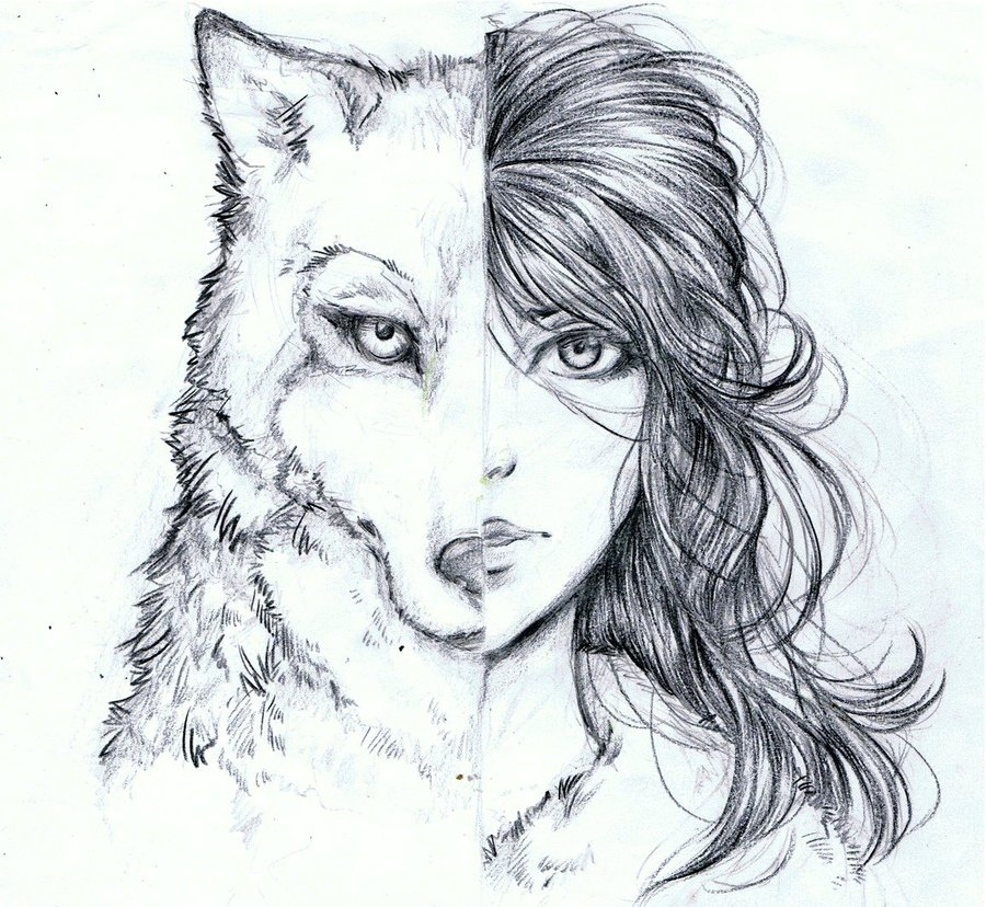 Drawn werewolf found Search  drawings Piercings Google