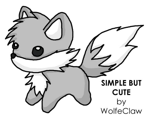 Wolf clipart cute Simple Wolf But on on