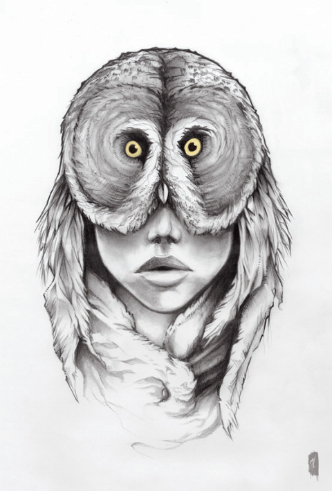 Drawn spirit sketch Artwork animal balance half half
